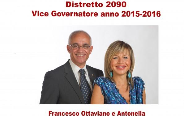 Vice Governatore Distretto 2090 – anno 2015-2016